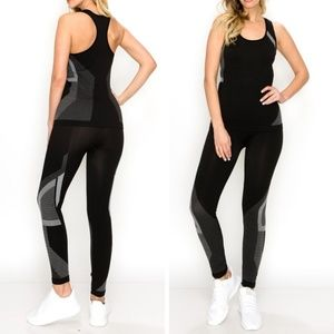 Pants - Seamless work out set in Black